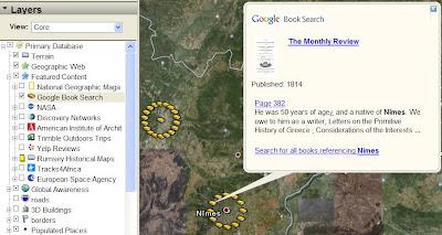 Recherche de livres dans Google earth