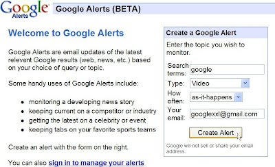 google alertes