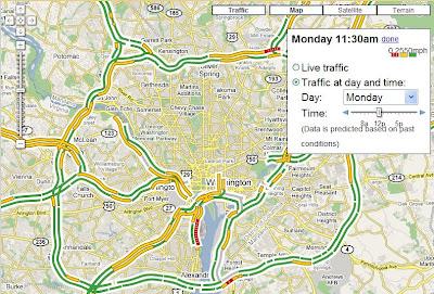 informations de trafic dans google maps