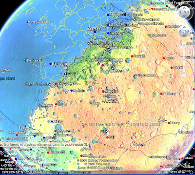 mars dans google earth