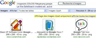 Rechercher des images d'une taille exacte dans Google Recherche d'images
