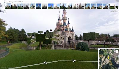 Le Parc Disneyland de Paris dans Google Street View