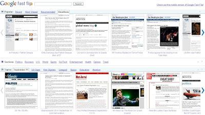 Google Fast Flip : toute l'actualité en ligne