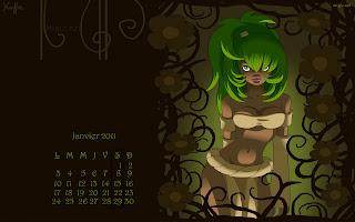 Calendrier janvier 2011  dofus et meilleur vœux