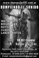 ROMPIENDO EL SONIDO FM - VIERNES DE 22 A 23