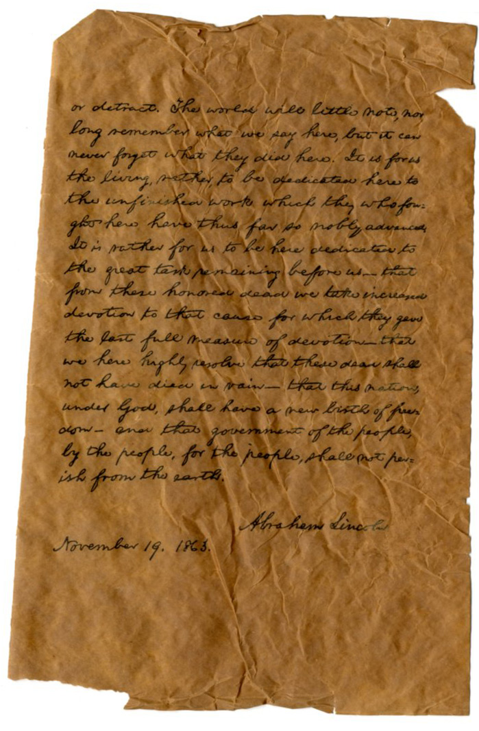How should I begin my essay on the Gettysburg Address?