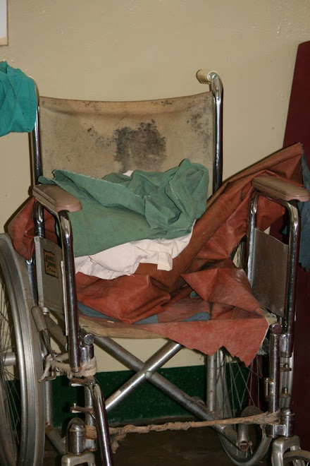 The only wheelchair at Berega Hospital