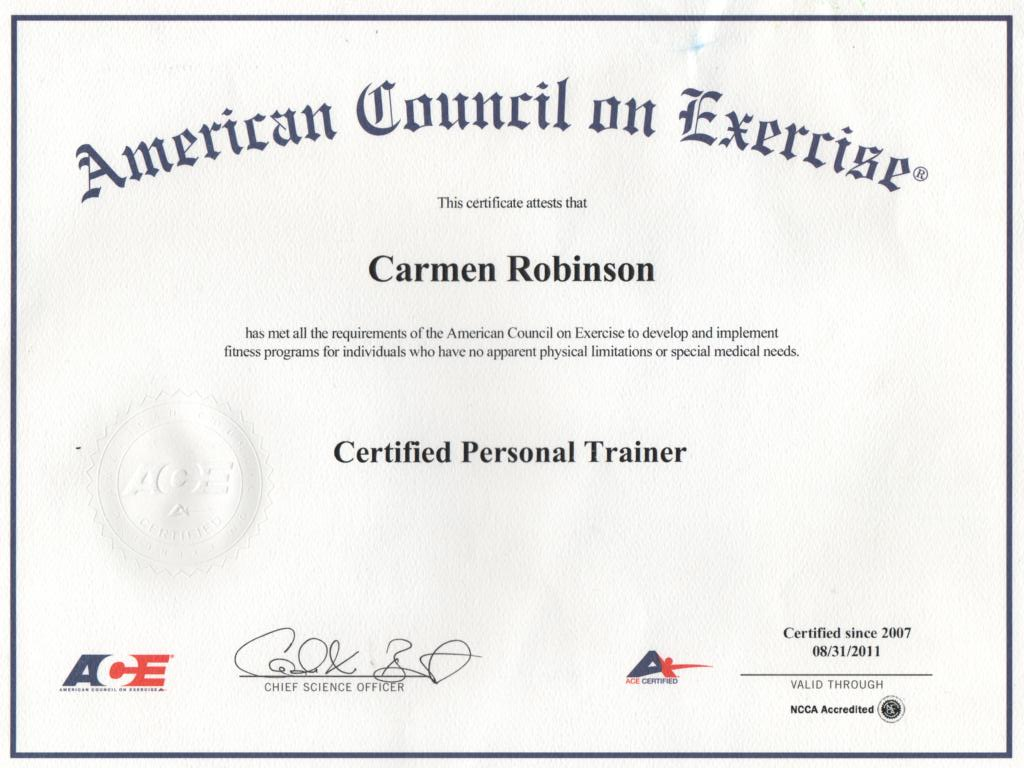 Personal Training Ace Personal Training Certification