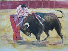 Toro en acción