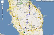 Jalan Moto Ke Kelantan KL - KB 5 Jam