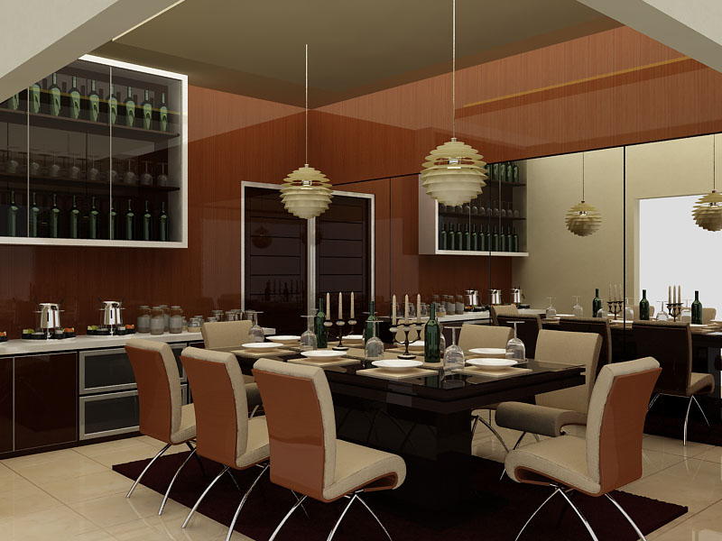 Interior home dining room interior design rumah tinggal for Dining area interior