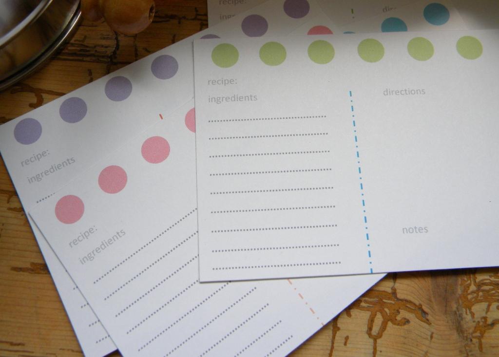 Inkling: Recipe Card Overhaul
