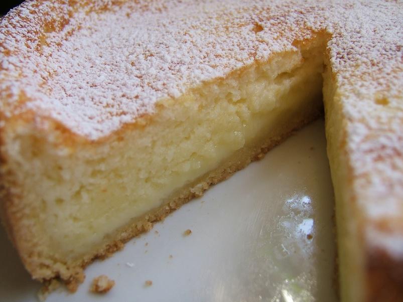 Kuchen de quesillo y yogurt