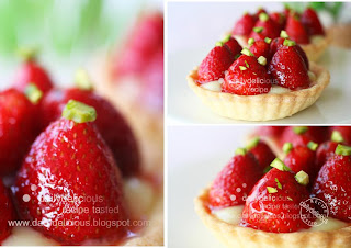 Dailydelicious strawberry milk tart try the new way to for White chocolate and strawberry tart