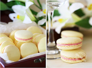 ... : Vanilla Bean Macarons with Raspberry Buttercream Filling