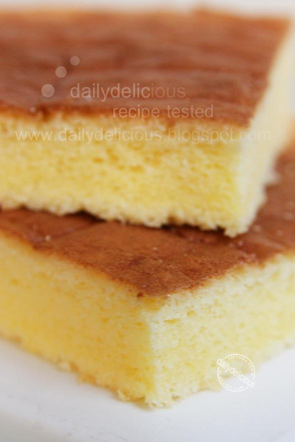 dailydelicious: Basic: Yellow Sponge Cake