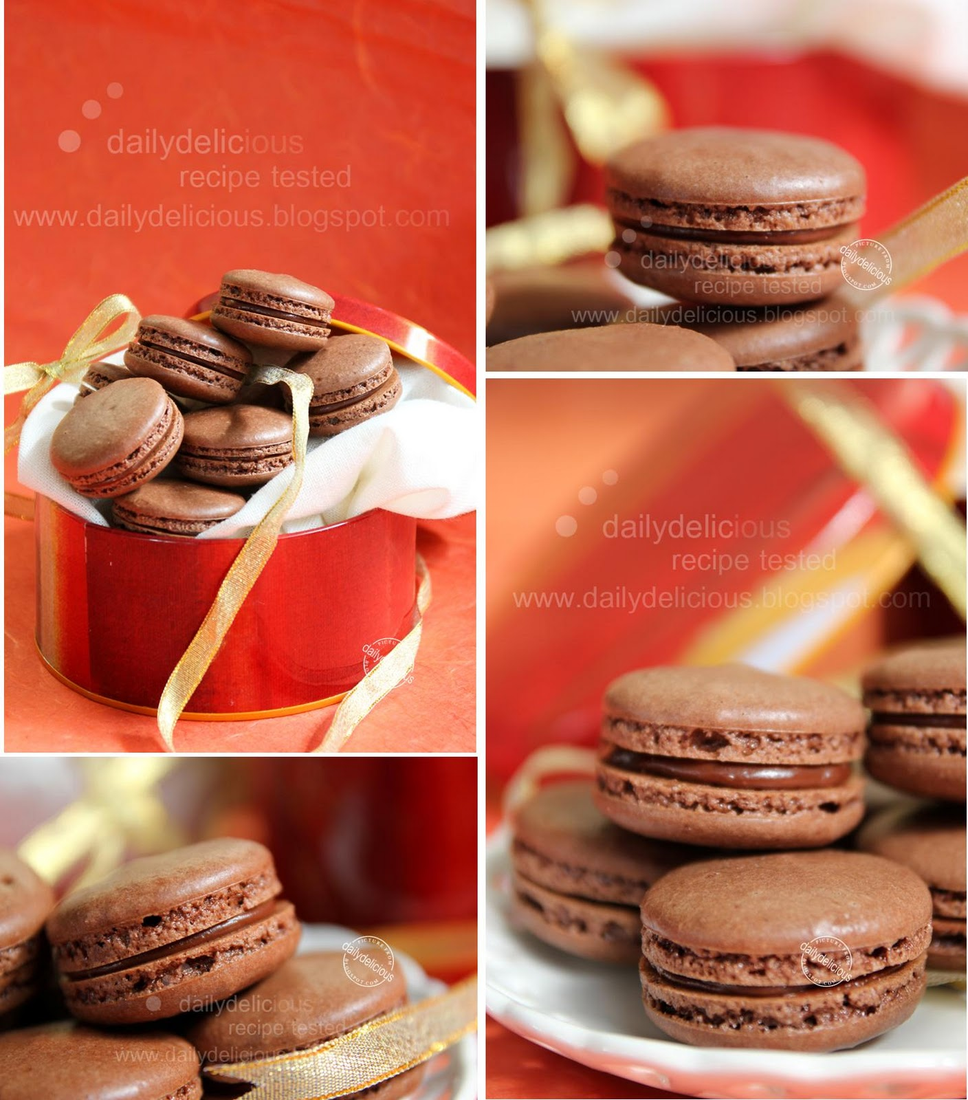 dailydelicious: Chocolate macarons with Mars Ganache: Special gift ...
