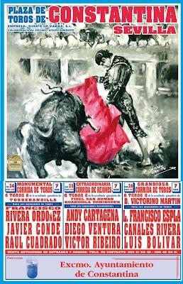 Cartel de Toros Feria 2007 Constantina