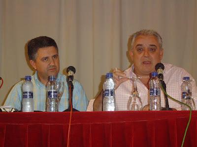 El Alcalde de Constantina con el delegado de Agricultura en otra reunión mantenida, sobre la misma problemática, anteriormente