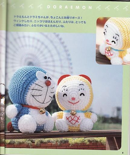 Amigurumi Doraemon Tutorial : Blog de Goanna: Patron Doraemon Amigurumi