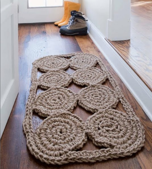 Blog de Goanna: Patrón Alfombra de Crochet