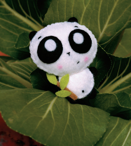 Blog de Goanna: Molde Oso Panda de Fieltro