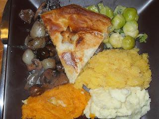 christmas, dinner, festive food