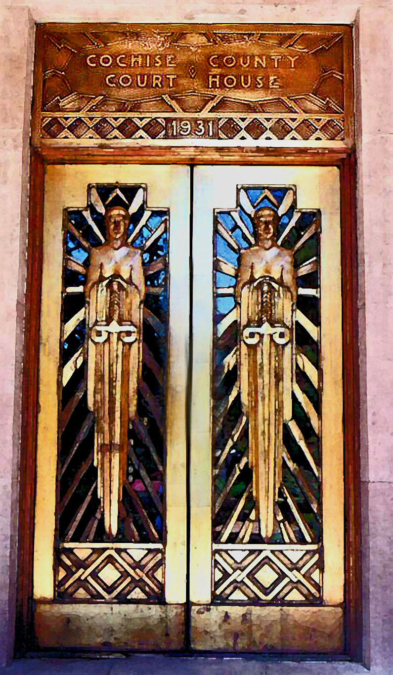 Arizona cochise county cochise - Focus On Bisbee Guardians Of Justice I Took This Photograph Of The Doors Of The Cochise County Courthouse Doors In Bisbee I Ve Always Been Fascinated