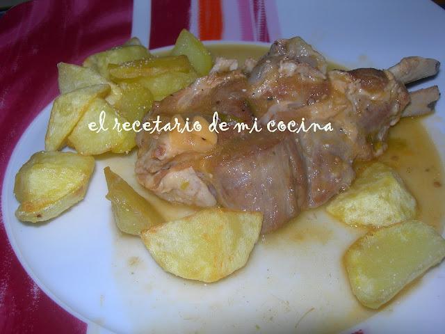 Ternasco guisado con patata