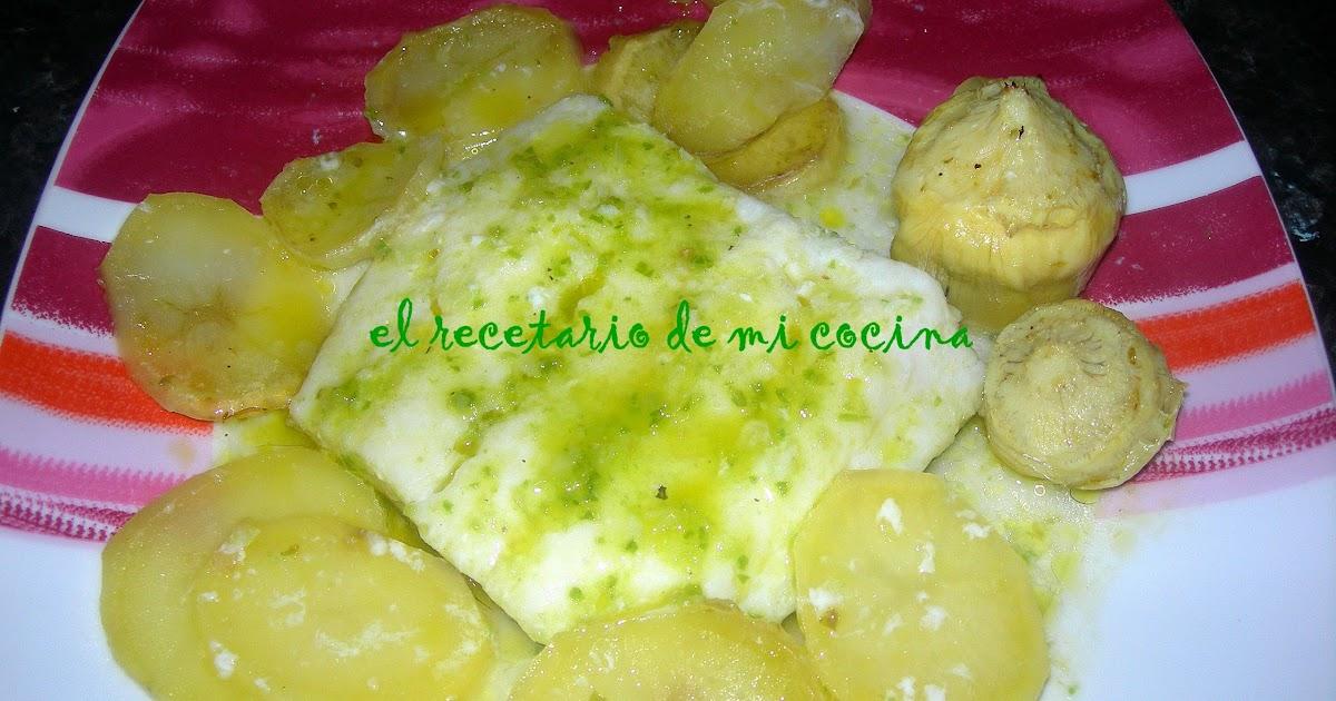 El recetario de mi cocina bacalao al horno con alcachofas for Cocina bacalao con patatas