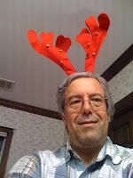 Me wearing antlers