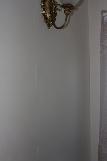 Wallpaper partly removed