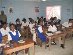 Secondary children in Bartica proud of their classroom