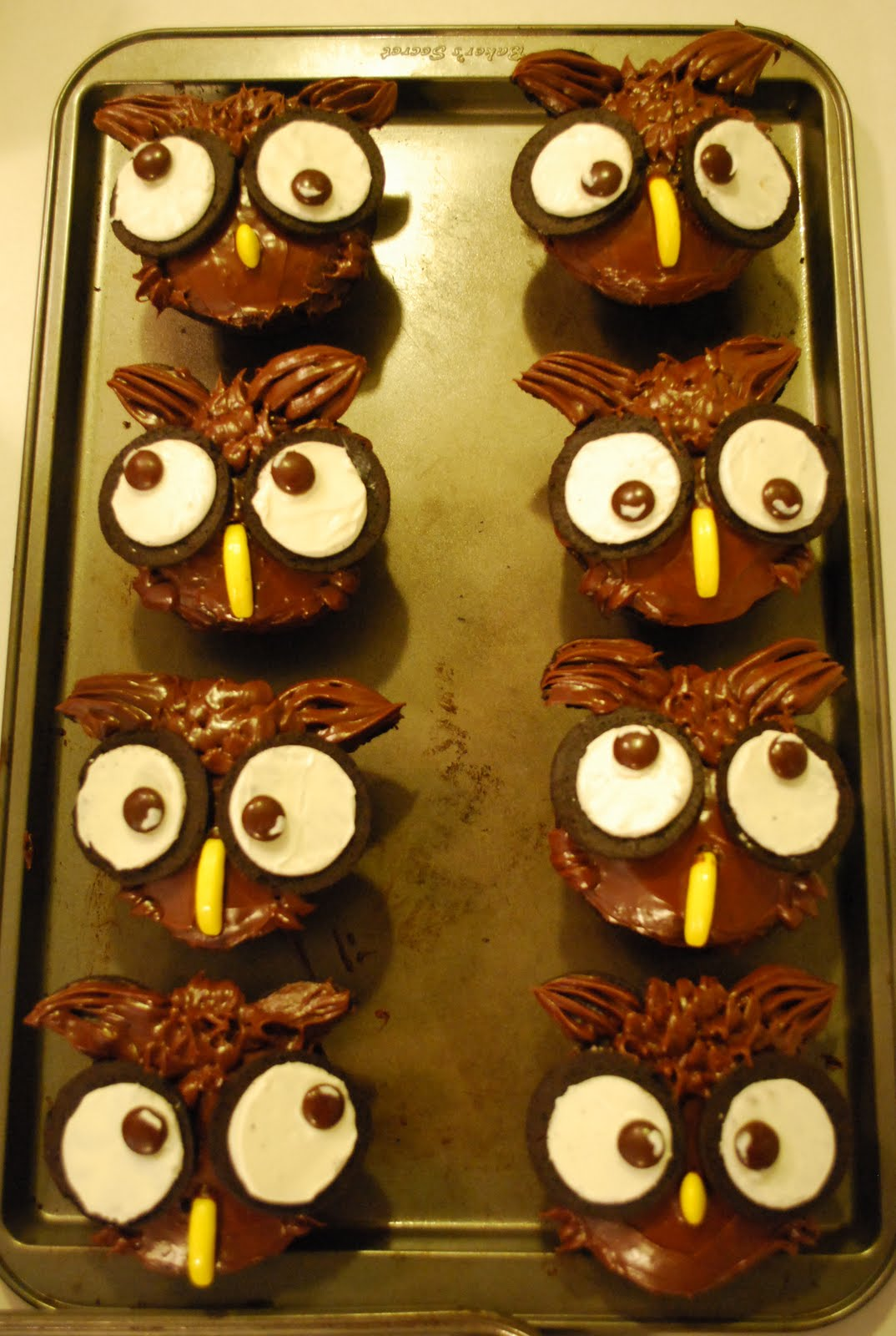 FACE YOUR BATTER Reminiscing the good times Owl Cupcakes