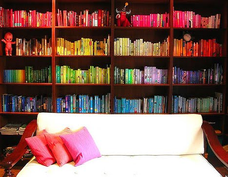 How To Colour Block Your Bookshelves