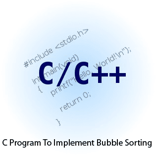 C Program Bubble Sorting