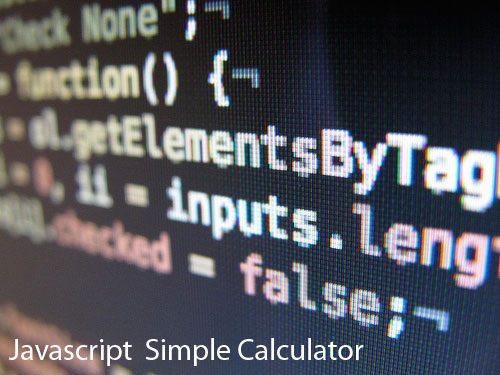 Part1 Calculator With Js Javascript Html Css You