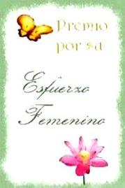 """PREMIO """"ESFUERZO FEMENINO"""""""