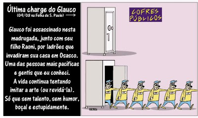 última charge do Glauco
