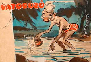 una de las obras expuestas en la Muestra 'Patoruzú, una revista una época'