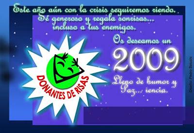 Tarjeta Felices Fiestas de la Fundación Donantes de Risas