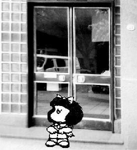 Mafalda en su casa...