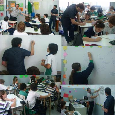 Banda Dibujada (Fabián Mezquita y Nando) en la Escuela del Mirador