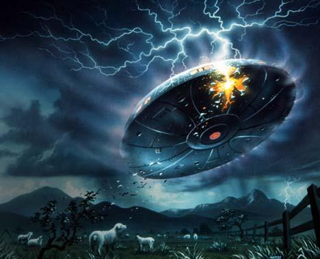 Trei OZN-uri uriaşe ar putea ateriza pe Pământ în decembrie 2012