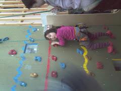 Klatrevæggen var en stor udfordring at prøve første gang: