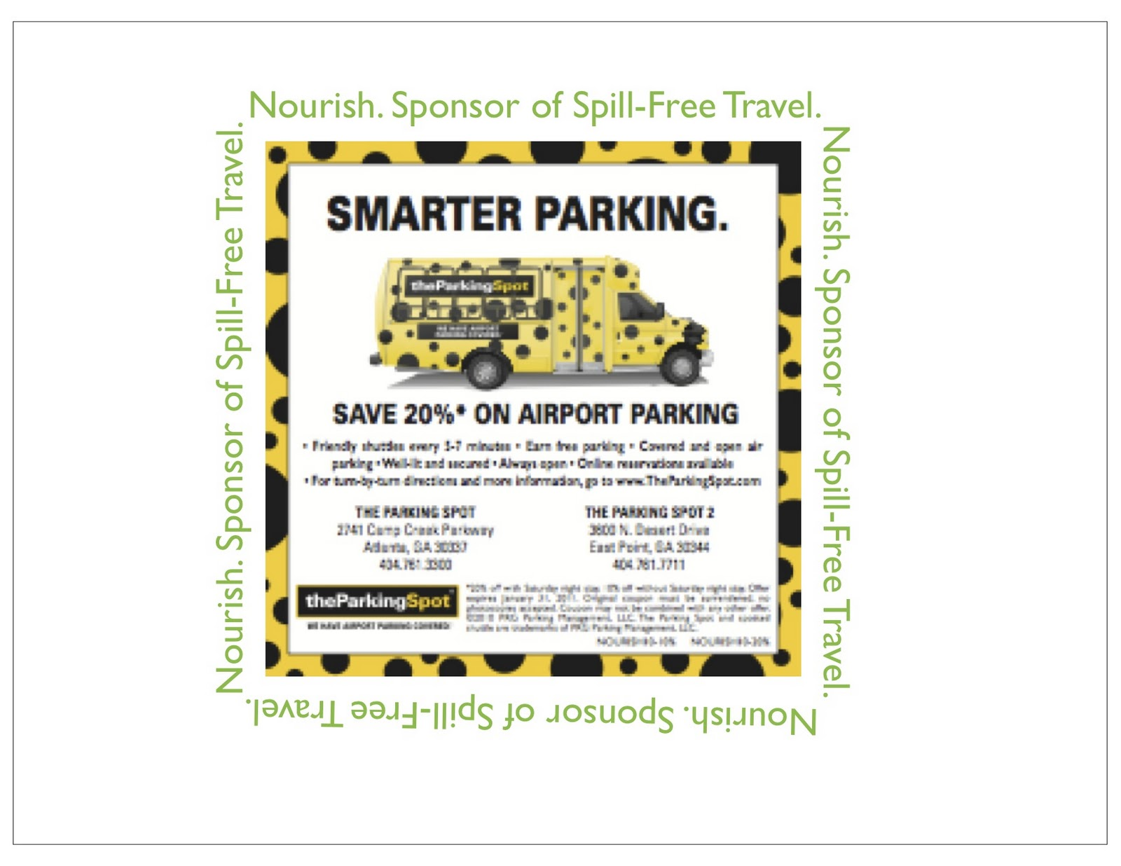 The Parking Spot rarely offers promo codes. On average, The Parking Spot offers 0 codes or coupons per month. Check this page often, or follow The Parking Spot (hit the follow button up top) to keep updated on their latest discount codes. Check for The Parking Spot's promo code exclusions/5().