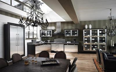 Modern Black Kitchen Decorating