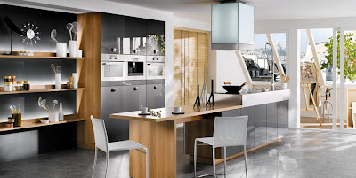 Modern Black White Kitchen Design