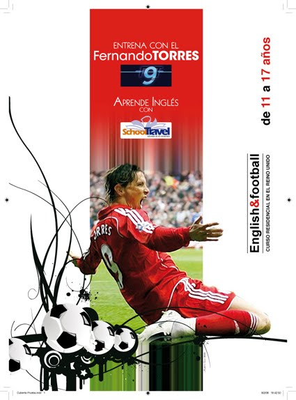 Campaña English & Football en el Extranjero con Fernando Torres para School Travel 2008