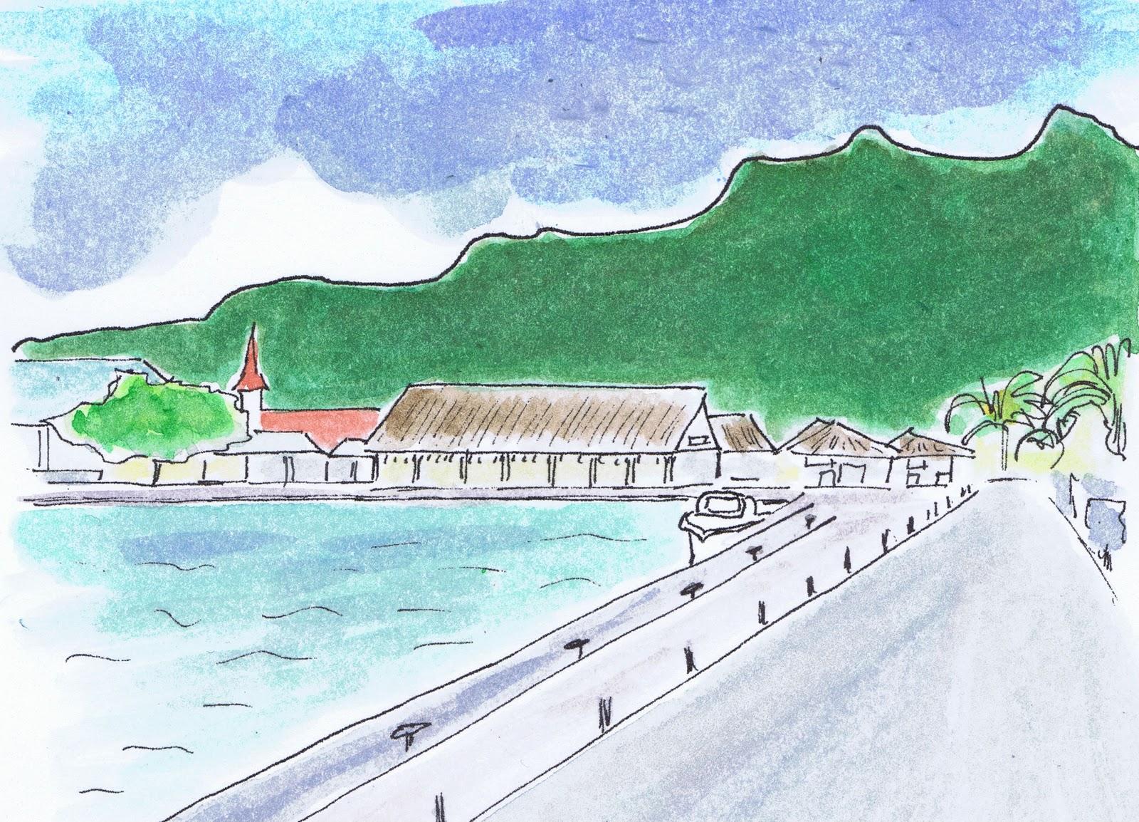 des couleurs et des mots: Carte de Bora Bora